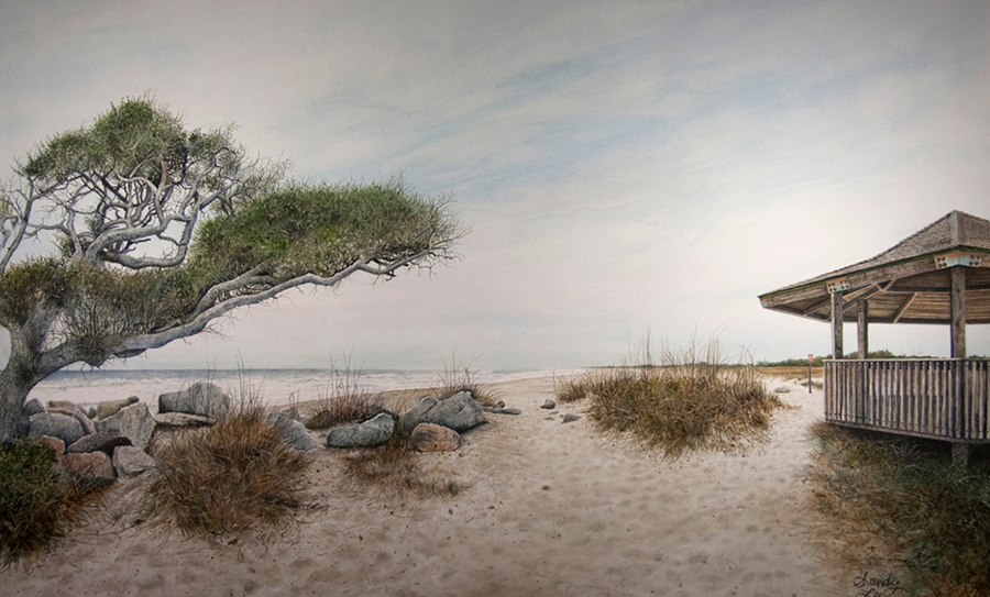 A Winter Day at Fort Fisher by Sandy Lee