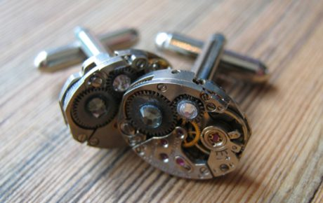 Watchwork cufflinks