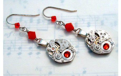 Watchwork earrings